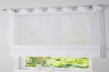 cortinas atadas con lazos