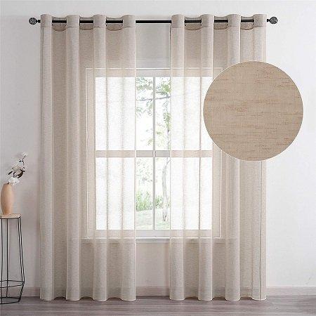 cortinas de lino para salón