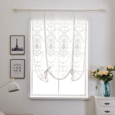 visillos bordados para ventanas