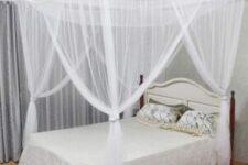 camas con cortinas y dosel