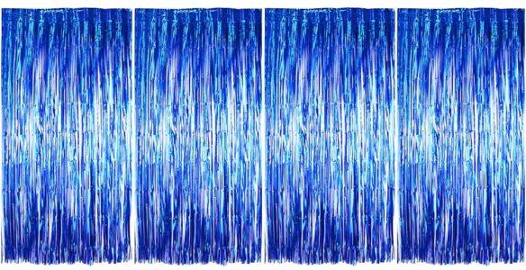 cortinas de metal oropel