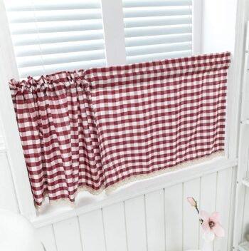 cortinas a cuadros para cocina