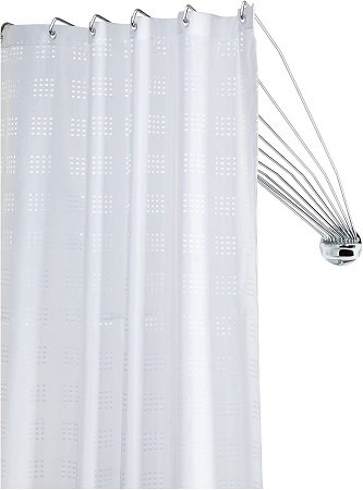 barra cortina baño angular novedosa