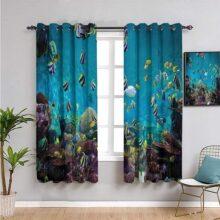 cortinas aguamarina