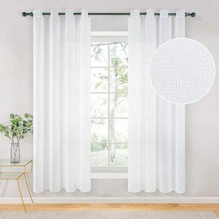 cortinas blancas para dormitorio