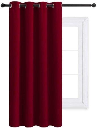 cortinas rojas para salón