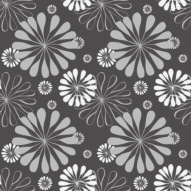 paredes grises florales