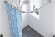 barra de baño curva extensible