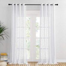 cortinas blancas para comedor