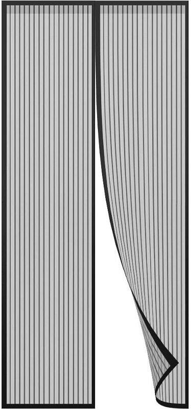cortinas para puertas de exterior de tela mosquitera