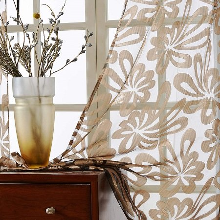 cortinas salón rústico moderno