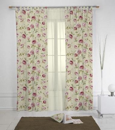 cortinas estampadas para salón