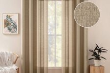 cortinas marrones para salón