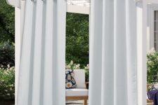 cortinas de exterior para porche