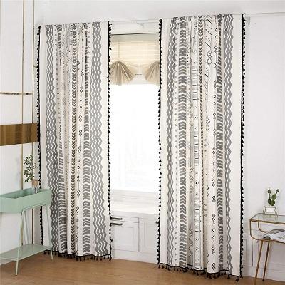 cortinas vintage para salón